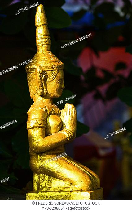 Sculpture in a temple of Phnom Penh,Cambodia,South east Asia