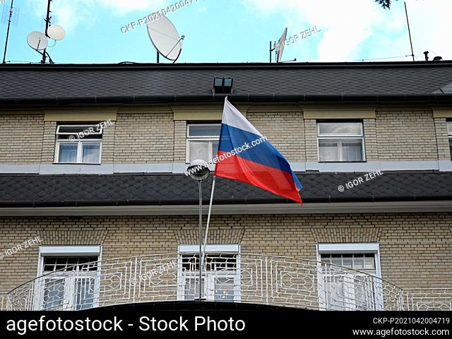 The Consulate General of the Russian Federation in Karlovy Vary, Czech Republic, pictured on April 20, 2021. Russian secret service GRU members were involved in...
