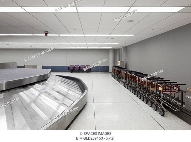 Empty baggage claim area in airport
