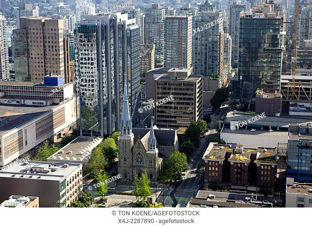 aerial view on vancouver city
