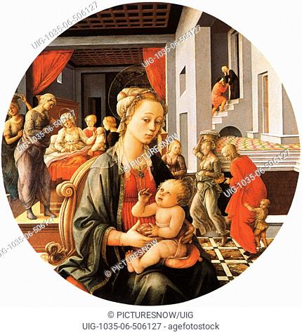 Madonna and Child with Stories of the Life of St. Anne