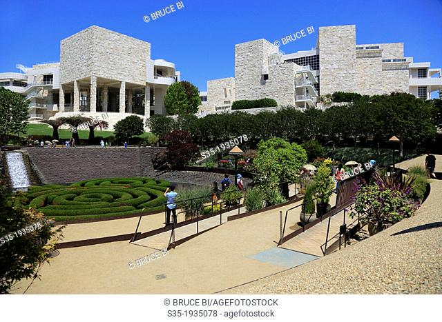The Central Garden of Getty Center. Los Angeles. California. USA