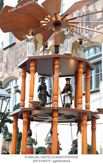 Nativity scene in Nuremberg. Germany