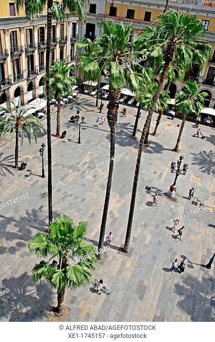 Plaza Real, Barcelona, Catalonia, Sapin