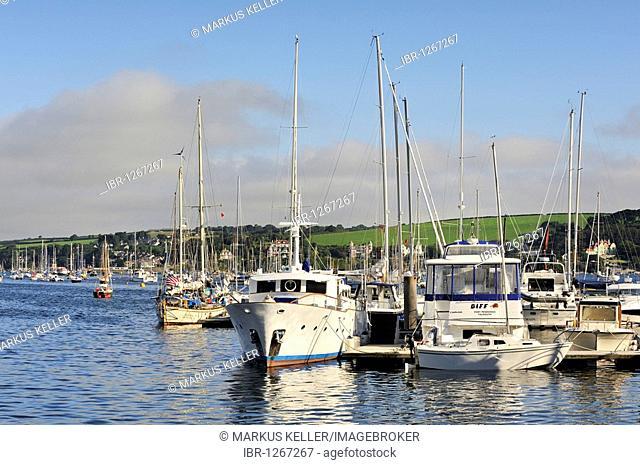 The marina at Falmouth, Cornwall, England, UK, Europe