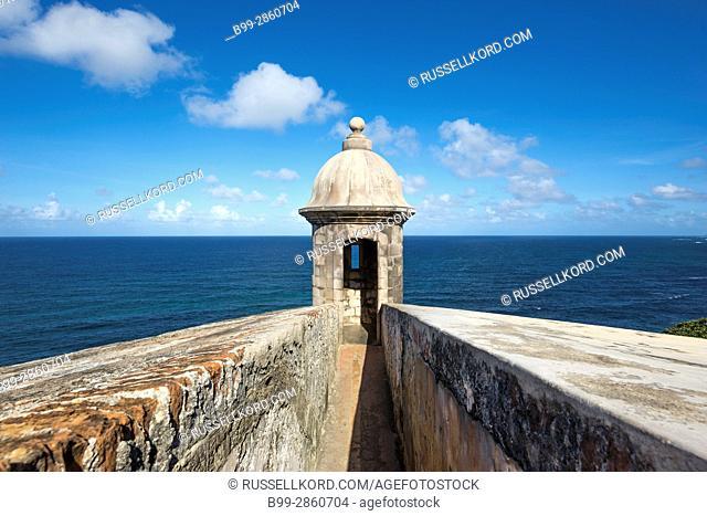 SENTRY BOX CASTILLO SAN FELIPE DEL MORRO OLD CITY SAN JUAN PUERTO RICO