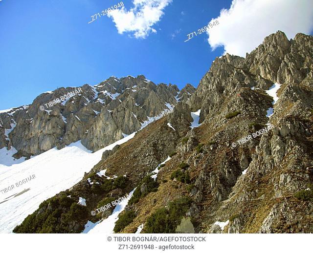 Austria, Tyrol, Alps, Innsbruck, Seegrube, mountain scenery,