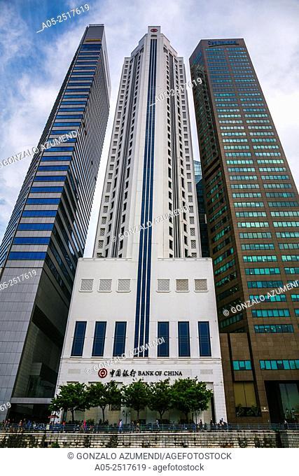 Central Business District. Singapore River. City Skyline. Singapore. Asia