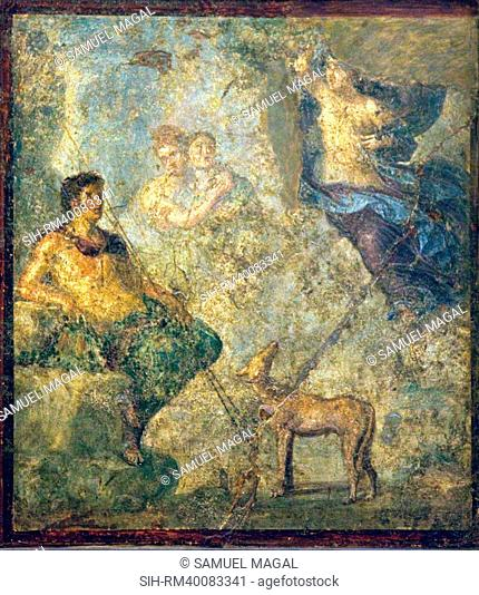 Italy, Naples, Naples Museum, from Pompeii, House of Diodcuri VI 9, 6-7, Endimione and Selene