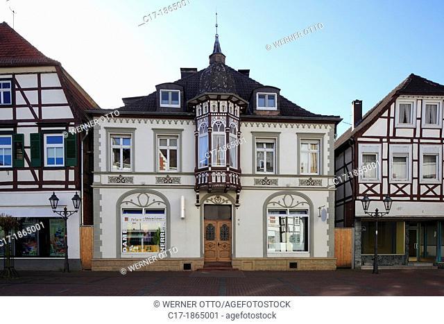 Germany, Brakel, Nethe, Nethegau, Oberwaelder Land, Teutoburgian Forest, Eggegebirge, East Westphalia, Westphalia, North Rhine-Westphalia, NRW, market place