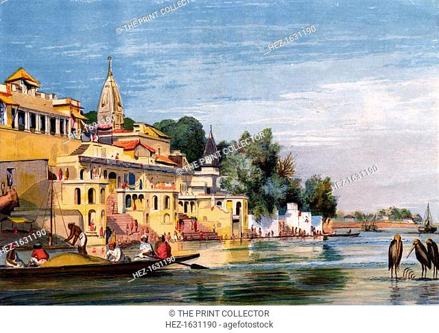 Cawnpore on the Ganges, India, 1857. From a supplement to The Illustrated London News (28 November 1857)