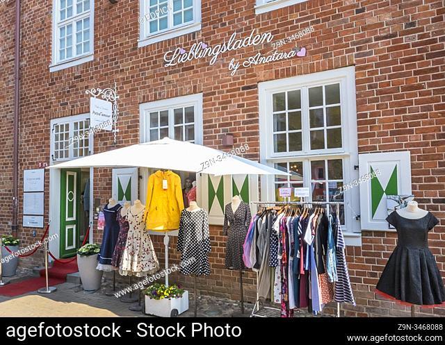 lieblingsladen, fashion store in the dutch quarter, potsdam, brandenburg, germany