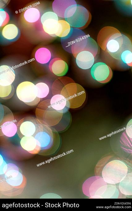 Colorful abstract blurred background with bokeh lights