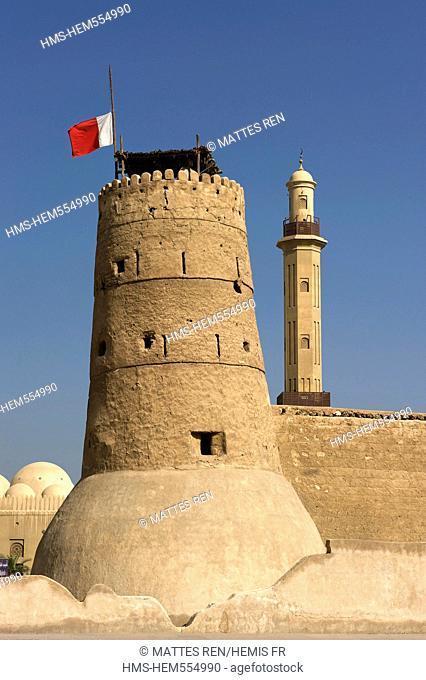 United Arab Emirates, Dubai, Dubai museum, Al-Fahidi fort and Grant Mosque