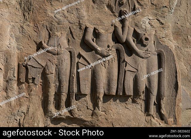 Carvings of disintegrating apsara dancers, Angkor Wat temple, Siem Riep, Cambodia