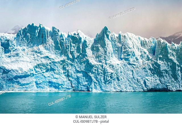 Storm cloud over Perito Moreno Glacier in Los Glaciares National Park, Patagonia, Chile