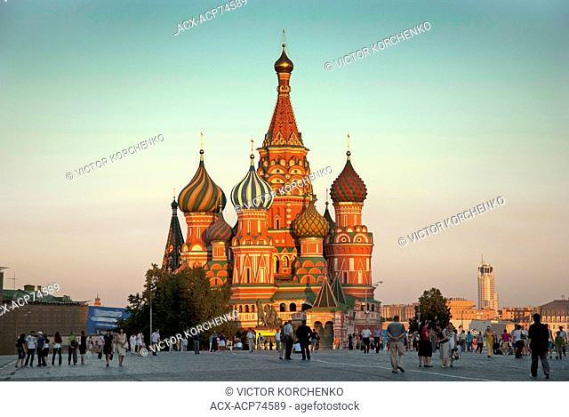 St. Basil Cathedral and the Red Square in Moscow