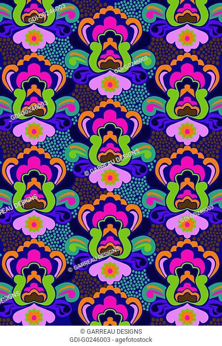Colorful lotus design