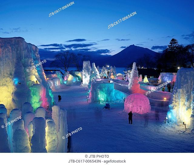 Lake Shikotsu Ice Festival Chitose Hokkaido Japan