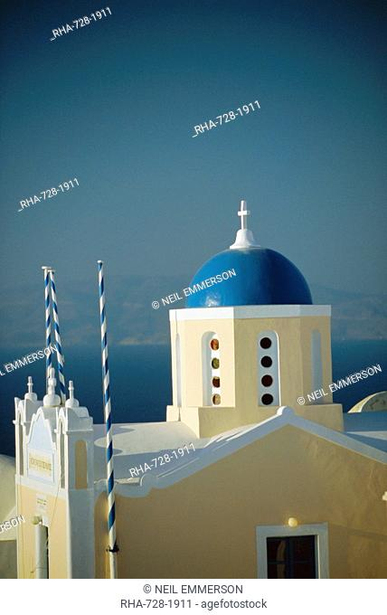 Thira Fira, Santorini, Cyclades Islands, Greece, Europe