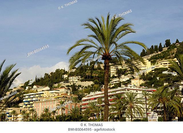 Menton, city view, France, Cote d Azur, Menton
