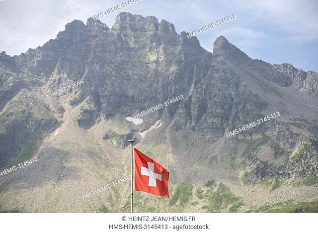 Switzerland, val Leventina, trekking up Alpe Sponda
