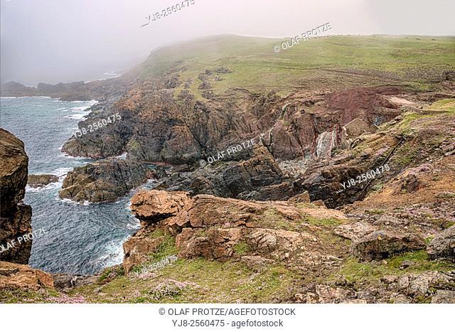 Ruins of the Geevor Tin Mine, Cornwall, England, United Kingdom, UK