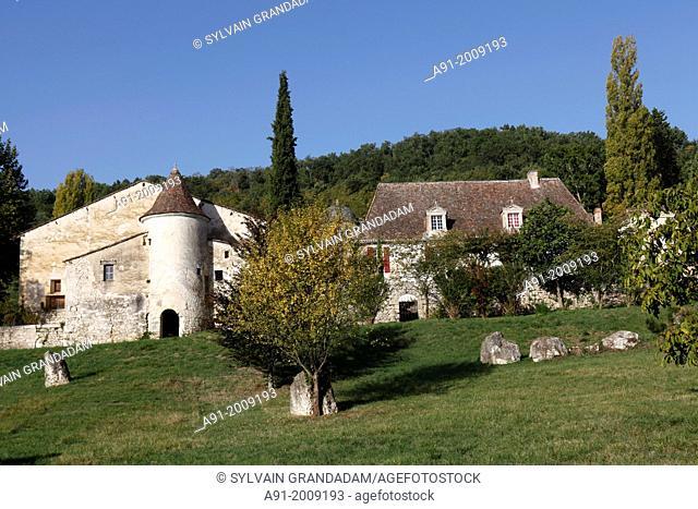 France, Dordogne (24), Chateau du Fauga a Port Sainte Foy near Bergerac