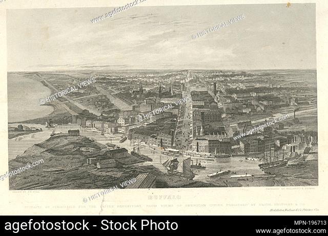 Buffalo. Smith Bros. & Co. (Publisher) Peters, Henry (Engraver) Wellstood, William (1819-1900) (Engraver) Hill, J. W. (John William) (1812-1879) (Artist)
