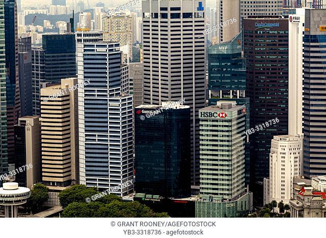 The Singapore Skyline, Singapore, South East Asia