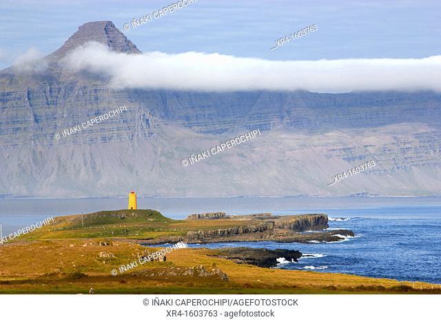 Reydarfjordur fjord lighthouse, Iceland