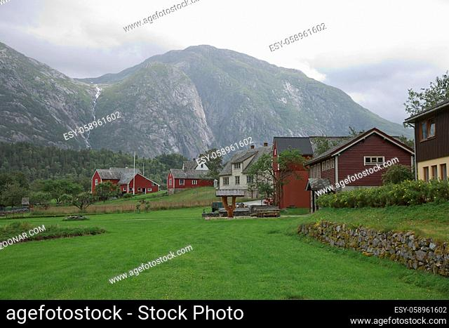 The village of Eidfjord in Norway is a major cruise ship port of call. It is situated at the end of the Eid Fjord, an inner branch of the large Hardangerfjorden