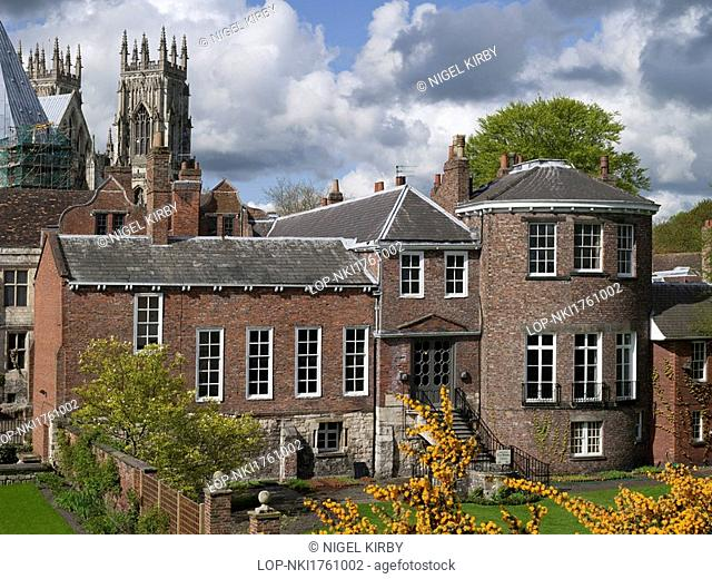 England, North Yorkshire, York. Grays Court formerly part of the Treasurers house in the 11th century and York Minster