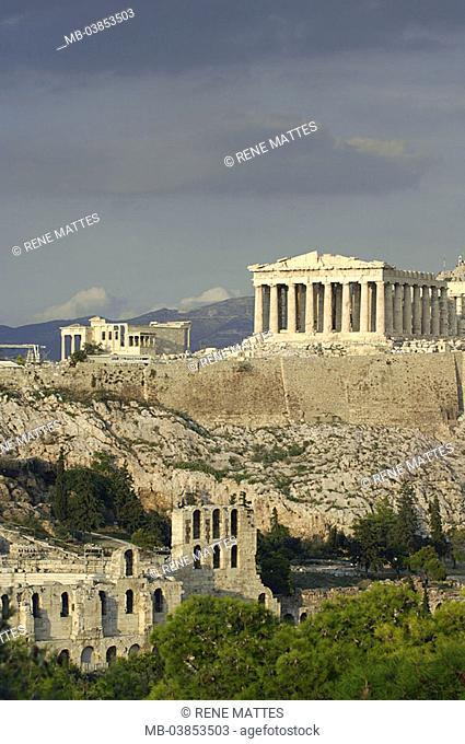 Greece, Athens, city-opinion, acropolis, Europe, mainland, Attika, city, capital, city, metropolis, sight, culture, temples, construction, architecture, ruin