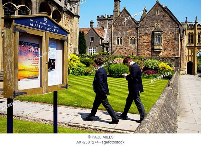 Wells cathedral music school; Wells, Somerset, England