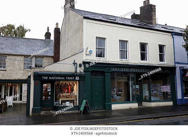 the national trust shop and printing house museum main street cockermouth cumbria england
