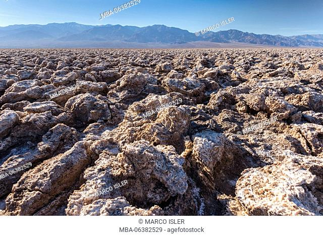 Salt Pool in Badwater, Death Valley, California, USA