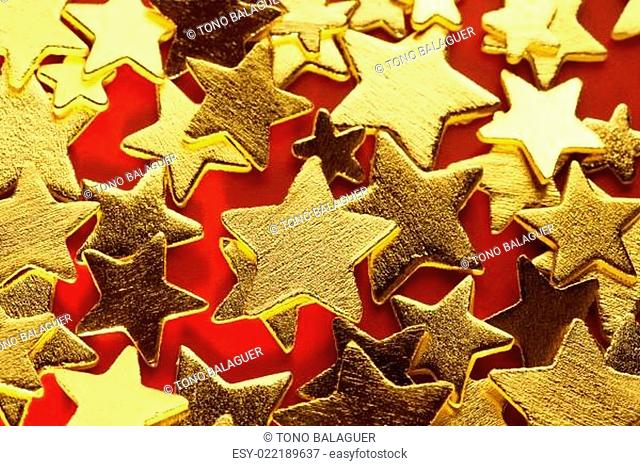 Christmas golden decoration with gold star