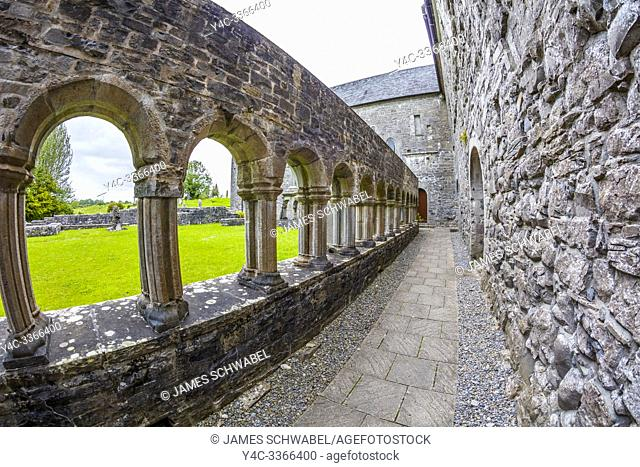 Ballintubber Abbey in the village of Ballintubber in County Mayo Ireland