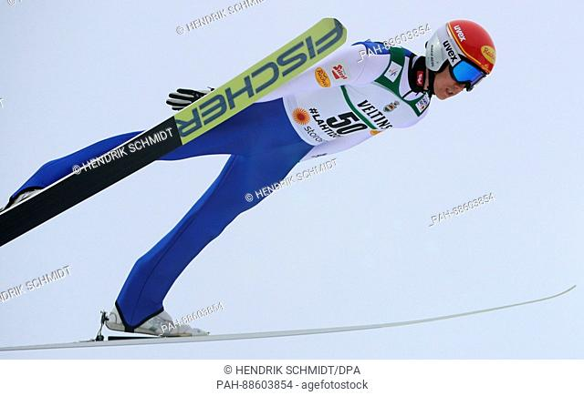 Austrian athlete Mario Seidl competes in the men's 10 kilometre combination event at the Nordic Ski World Championship in Lahti, Finland, 28 February 2017
