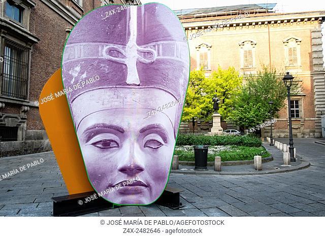 Pinacoteca di Brera entrance, Brera district, Milan, Italy