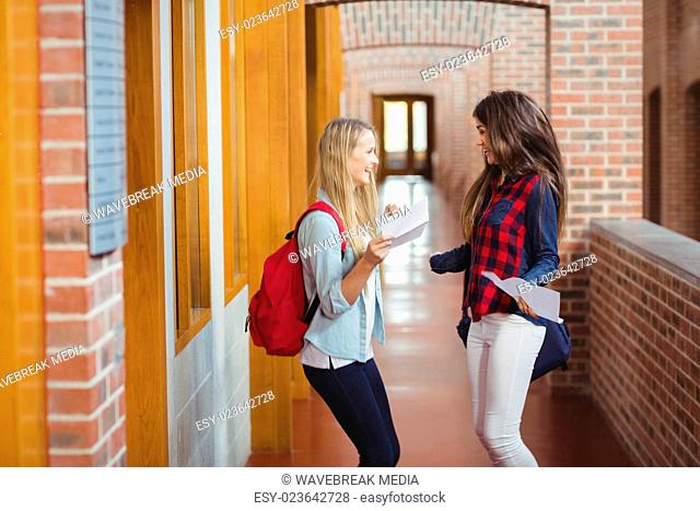 Excited students receiving results