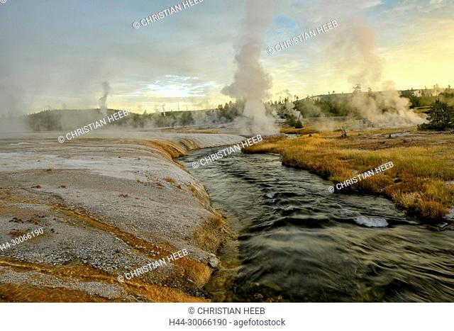 North America, American, USA, Rocky Mountains, West, Yellowstone National Park, UNESCO, World Heritage, Black Sand Basin