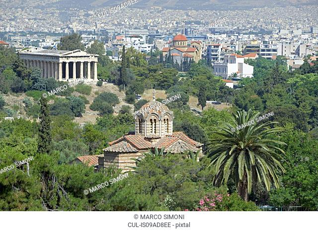 Temple of Hephaestus and Ancient Agora, Athens, Greece, Europe