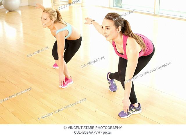 Women doing fitness class