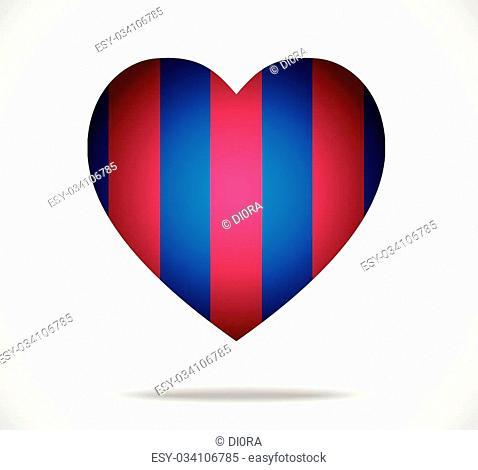 Blue - pomegranate heart. Illustration 10 version