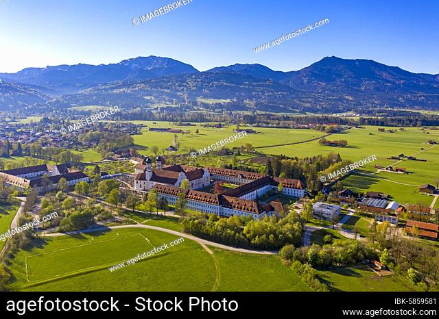 Benediktbeuern Monastery, Tölzer-Land, Alpine Foothills, Upper Bavaria, Bavaria, Germany, Europe