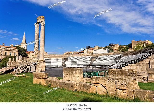 France, Arles, Roman theatre, remains