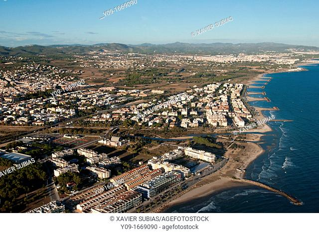 Foix river mouth, Cubelles, Garraf, Barcelona, Spain