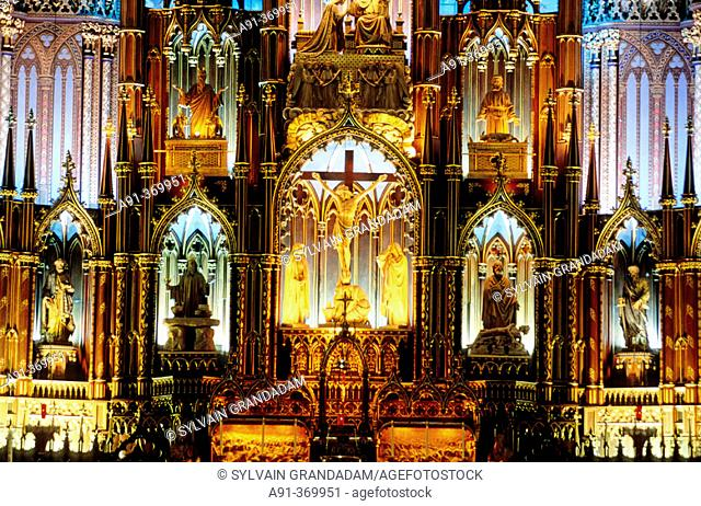 The catholic cathedral. City of Montreal. Quebec. Canada
